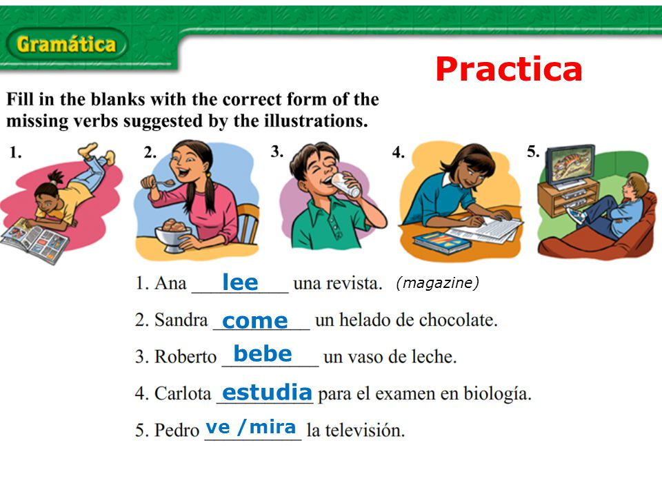 Practica lee (magazine) come bebe estudia ve /mira