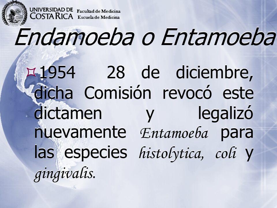 Facultad de Medicina Escuela de Medicina. Endamoeba o Entamoeba.