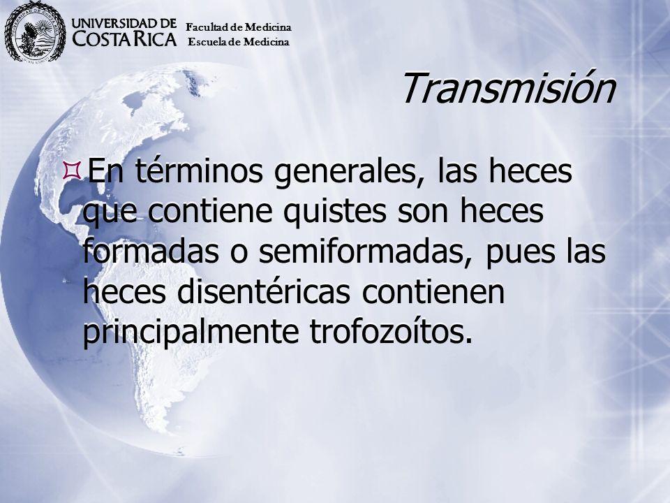 Facultad de Medicina Escuela de Medicina. Transmisión.