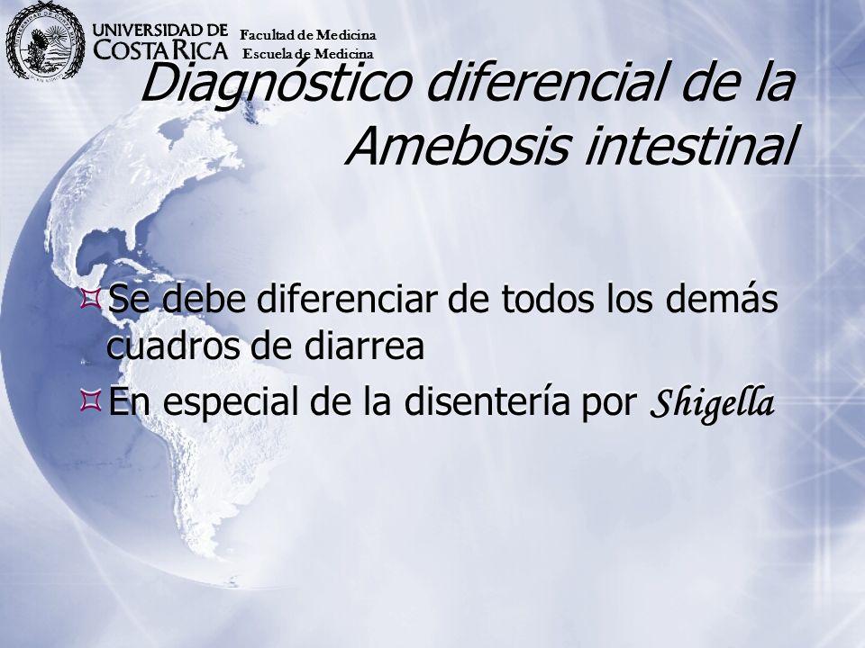Diagnóstico diferencial de la Amebosis intestinal