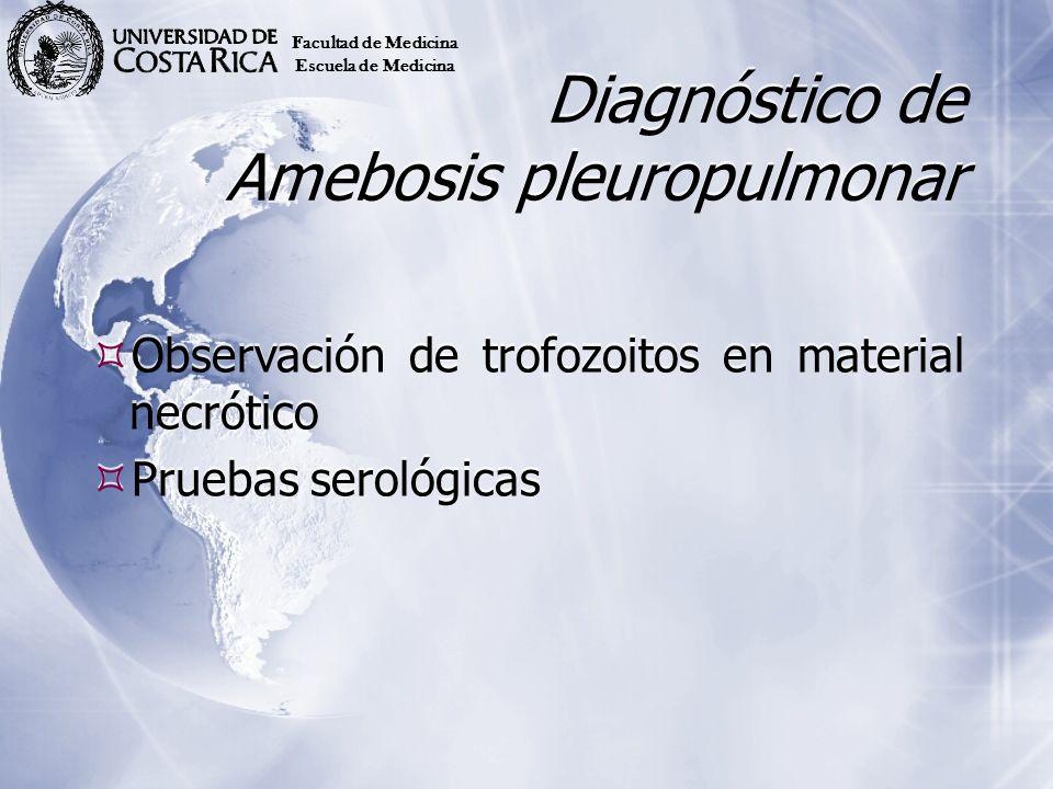 Diagnóstico de Amebosis pleuropulmonar
