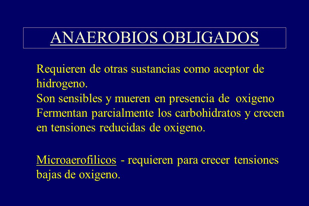 ANAEROBIOS OBLIGADOS