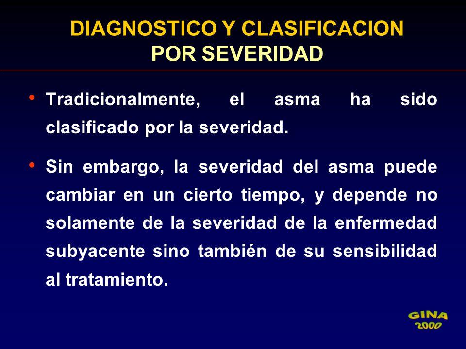 DIAGNOSTICO Y CLASIFICACION POR SEVERIDAD
