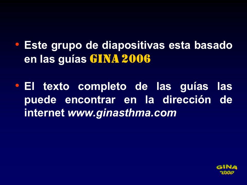 Este grupo de diapositivas esta basado en las guías GINA 2006