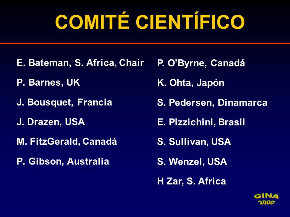 COMITÉ CIENTÍFICO E. Bateman, S. Africa, Chair P. O'Byrne, Canadá