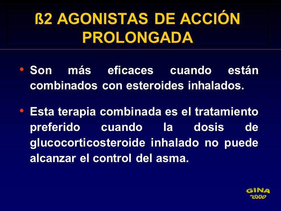 ß2 AGONISTAS DE ACCIÓN PROLONGADA