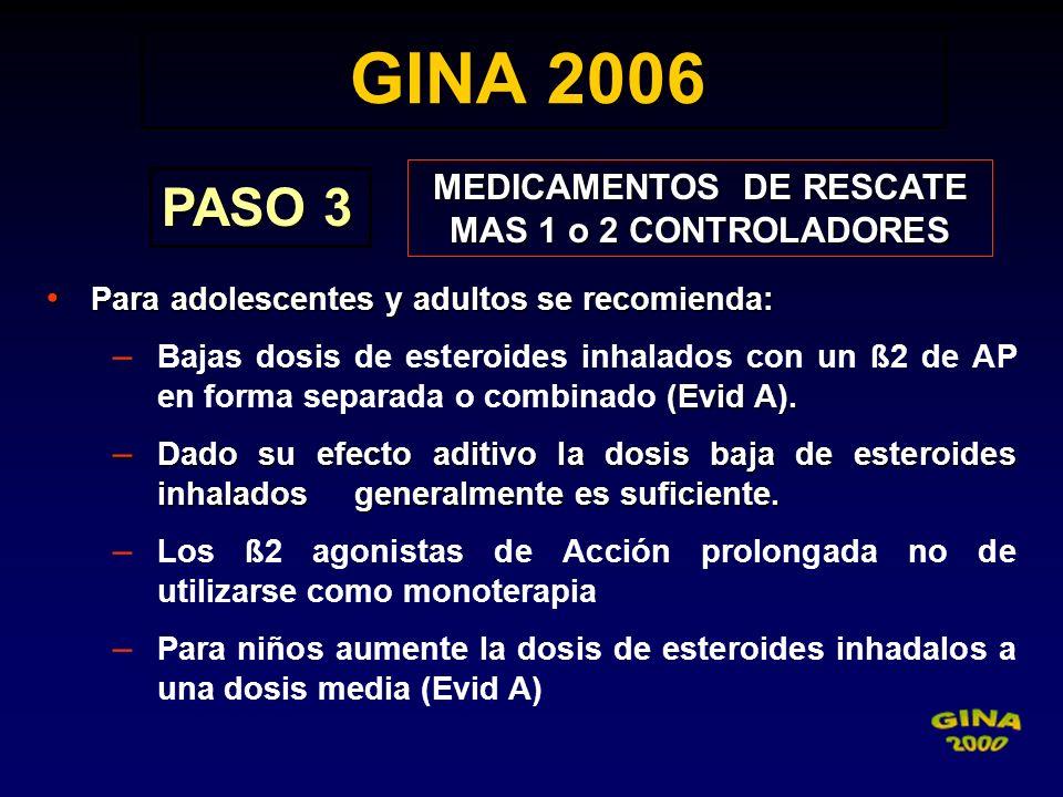 MEDICAMENTOS DE RESCATE MAS 1 o 2 CONTROLADORES