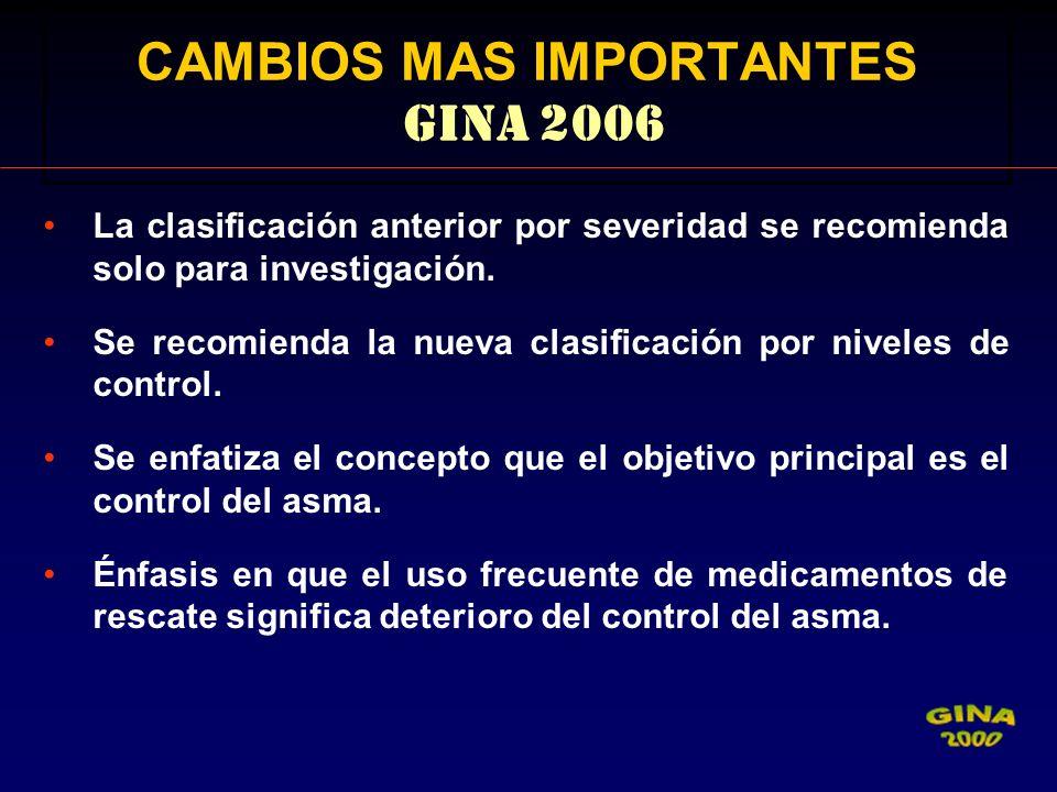 CAMBIOS MAS IMPORTANTES GINA 2006