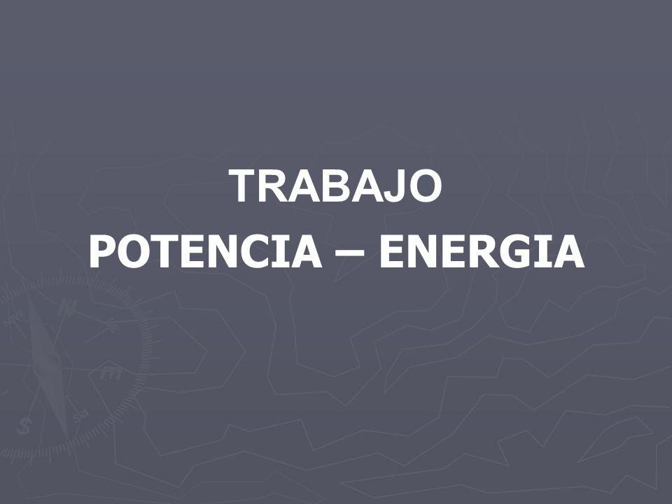 TRABAJO POTENCIA – ENERGIA