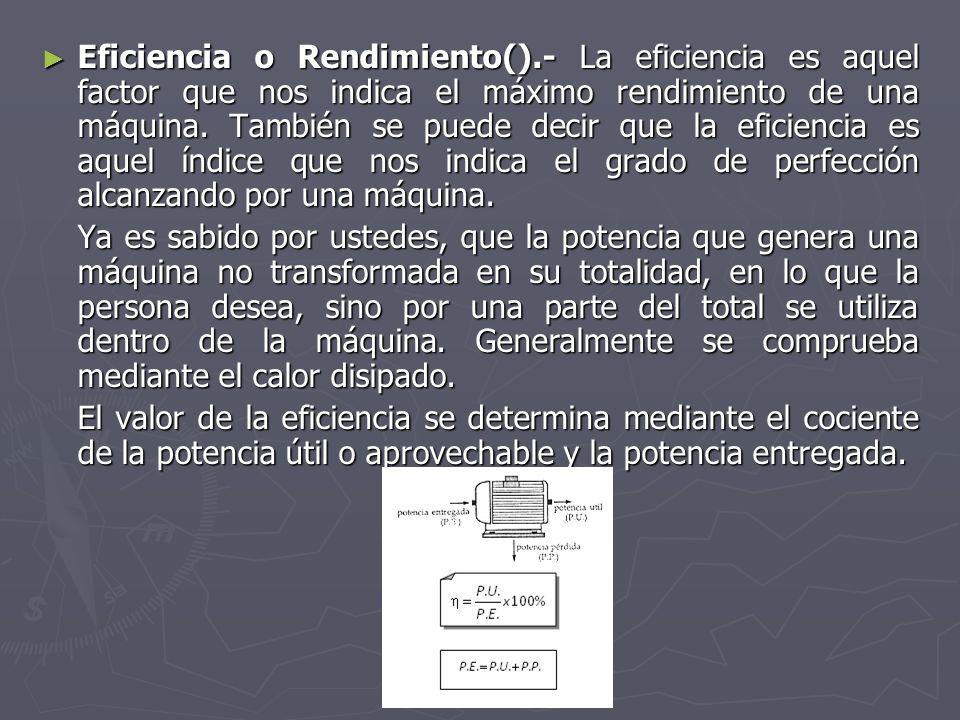 Eficiencia o Rendimiento()