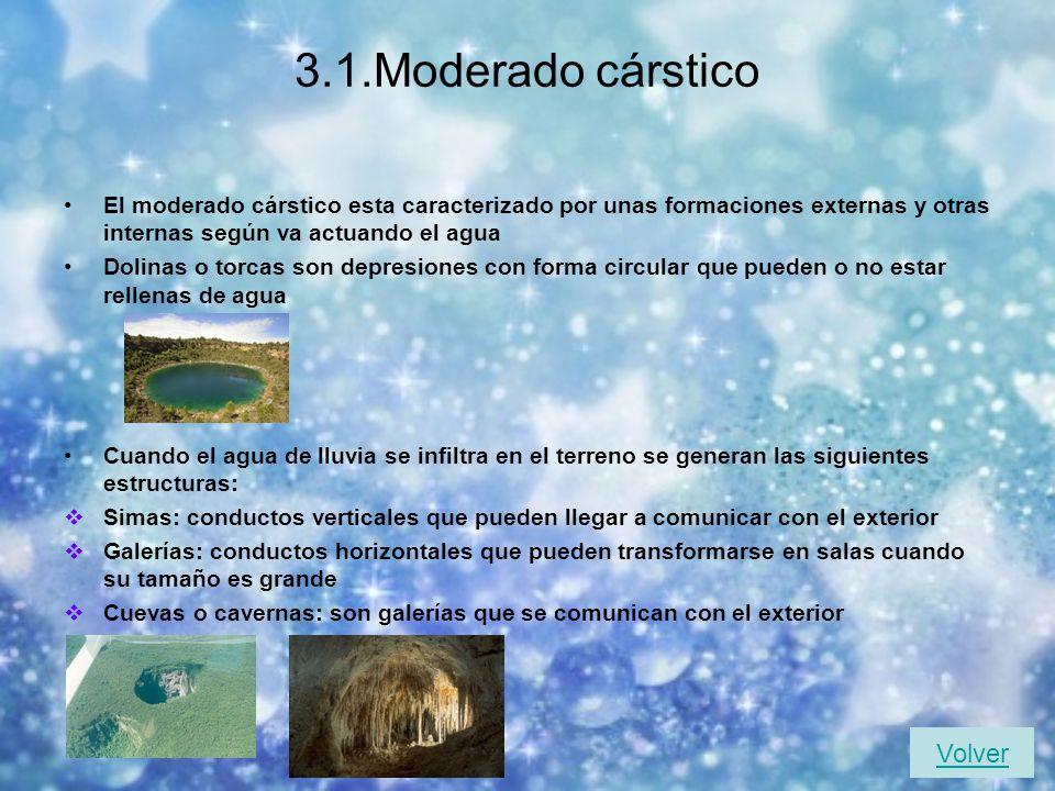 3.1.Moderado cárstico Volver
