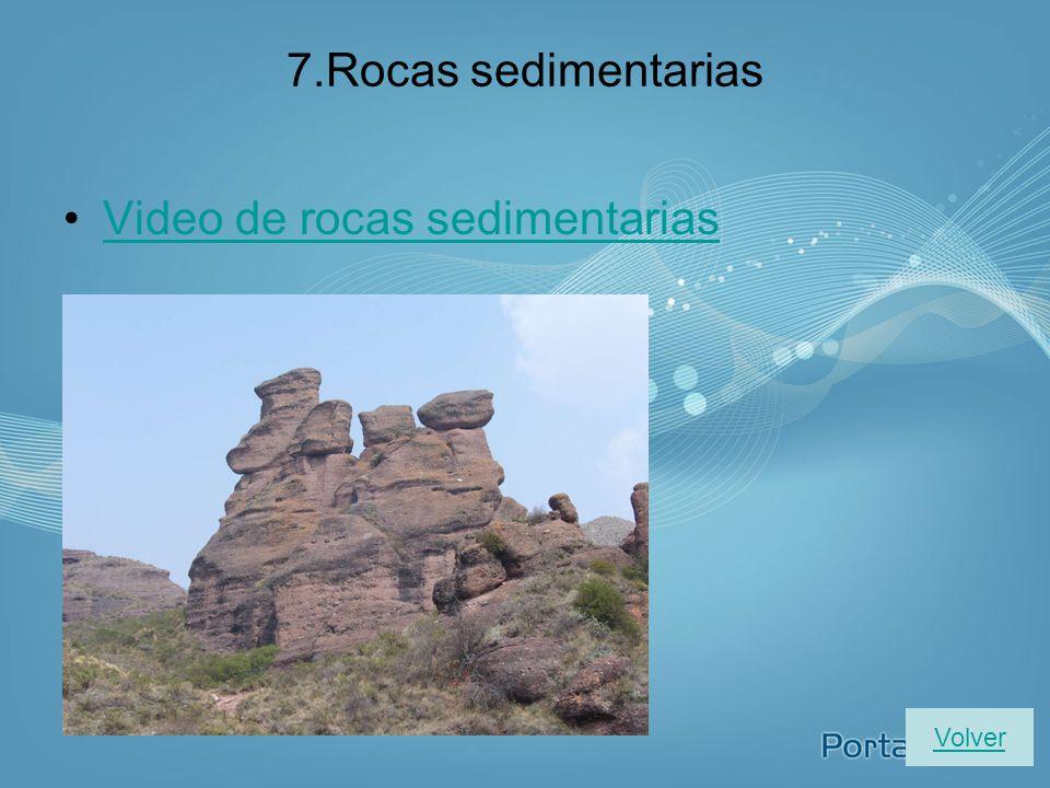 Video de rocas sedimentarias