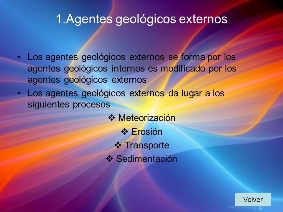1.Agentes geológicos externos
