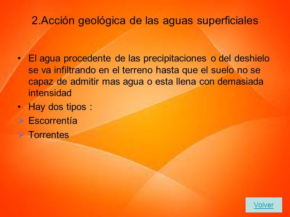 2.Acción geológica de las aguas superficiales