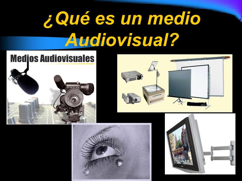 ¿Qué es un medio Audiovisual