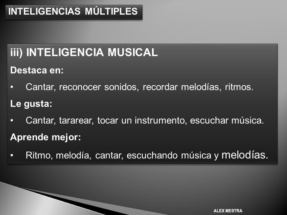 iii) INTELIGENCIA MUSICAL