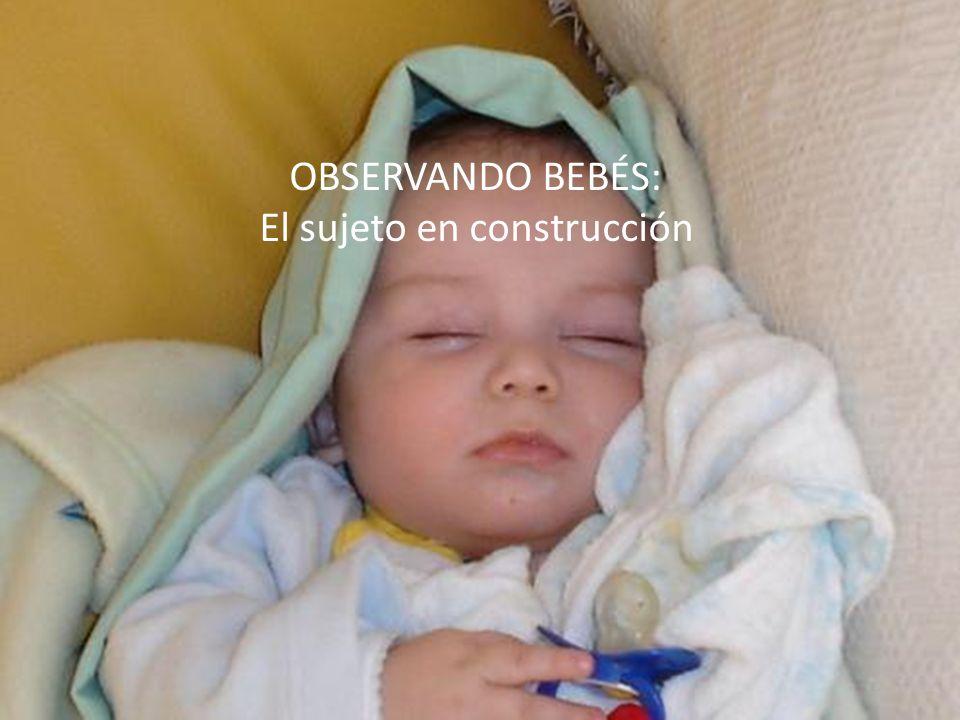 OBSERVANDO BEBÉS: El sujeto en construcción