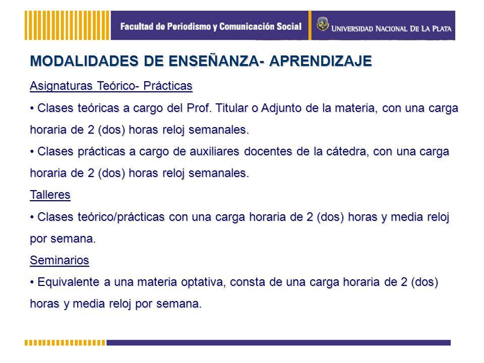 MODALIDADES DE ENSEÑANZA- APRENDIZAJE