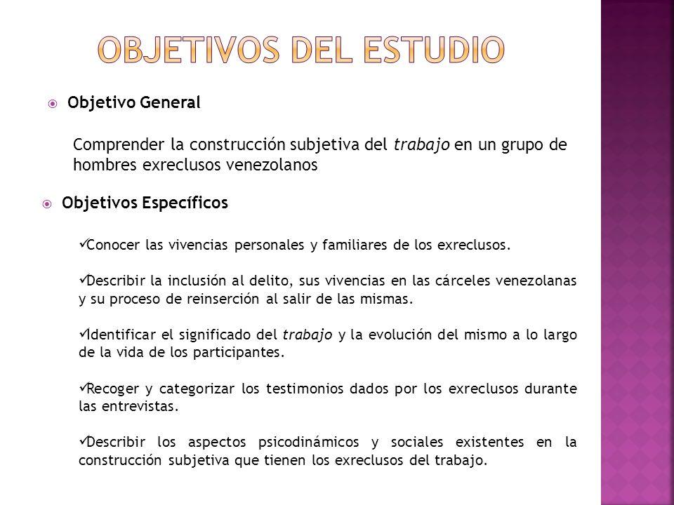 Objetivos del estudio Objetivo General