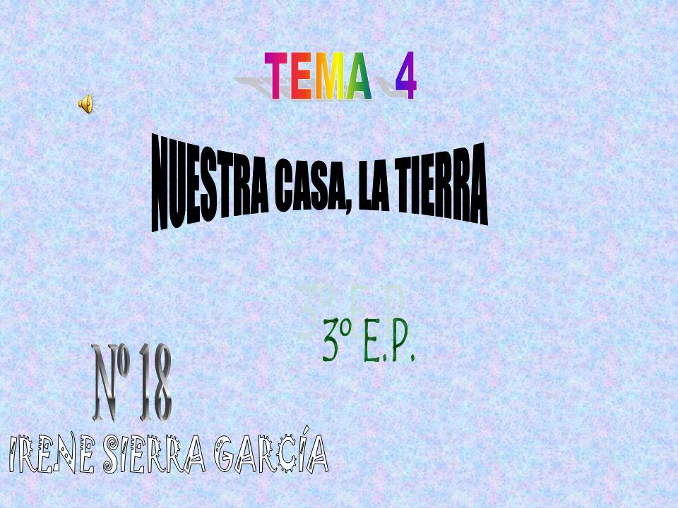 TEMA 4 NUESTRA CASA, LA TIERRA 3º E.P. Nº 18 IRENE SIERRA GARCÍA