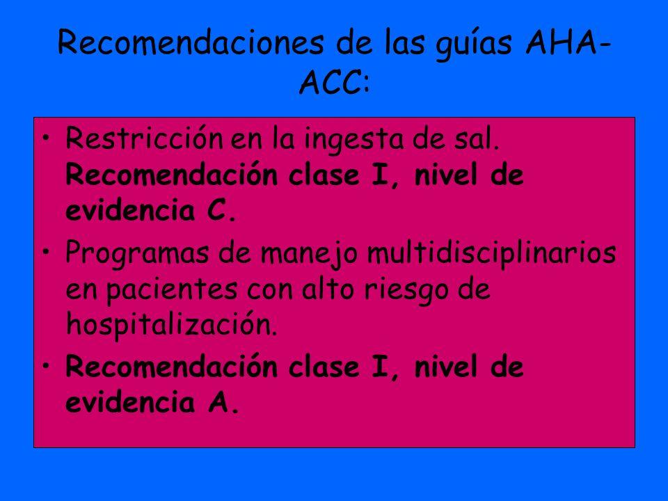 Recomendaciones de las guías AHA-ACC: