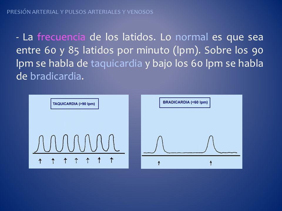 Presión arterial y pulsos arteriales y venosos