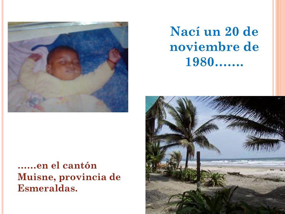 Nací un 20 de noviembre de 1980…….