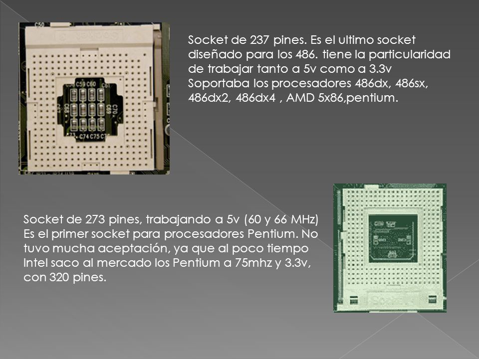 Socket de 237 pines. Es el ultimo socket diseñado para los 486