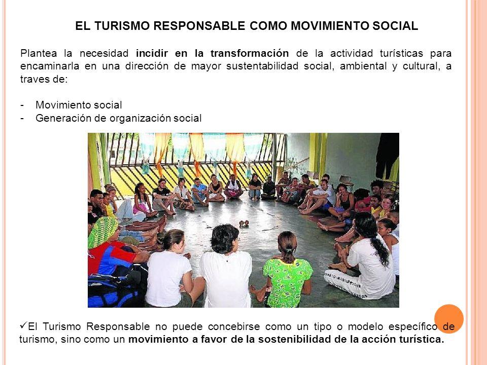 EL TURISMO RESPONSABLE COMO MOVIMIENTO SOCIAL