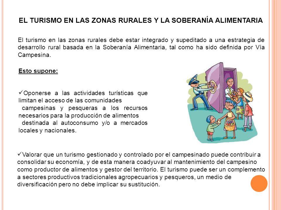 EL TURISMO EN LAS ZONAS RURALES Y LA SOBERANÍA ALIMENTARIA