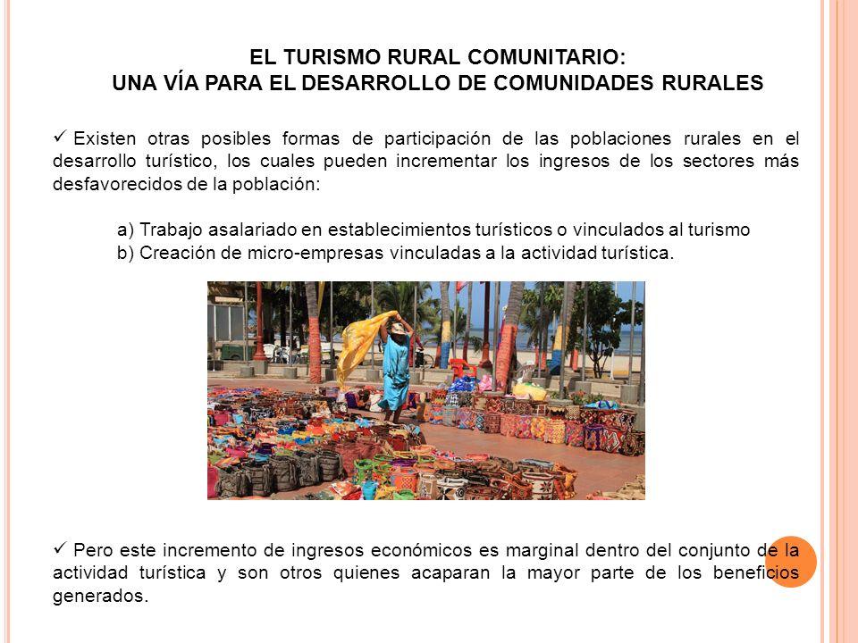 UNA VÍA PARA EL DESARROLLO DE COMUNIDADES RURALES