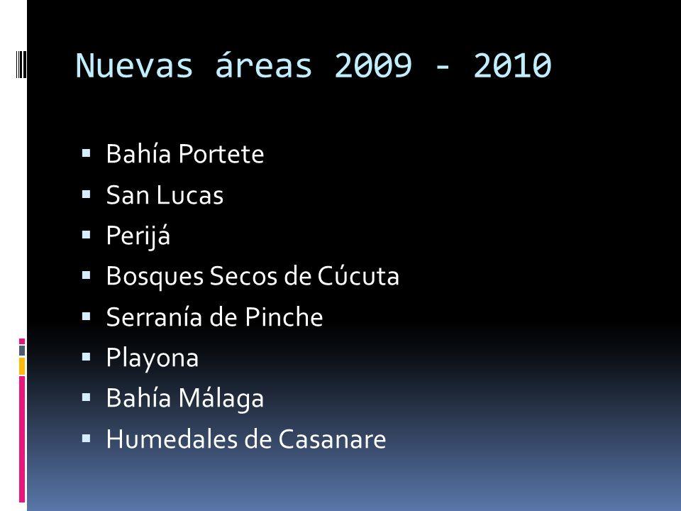 Nuevas áreas 2009 - 2010 Bahía Portete San Lucas Perijá