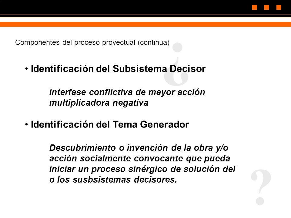 ¿ Identificación del Subsistema Decisor