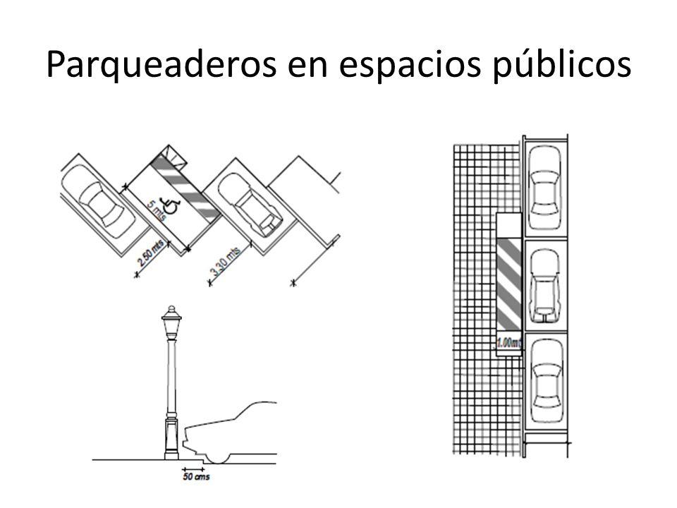 Parqueaderos en espacios públicos