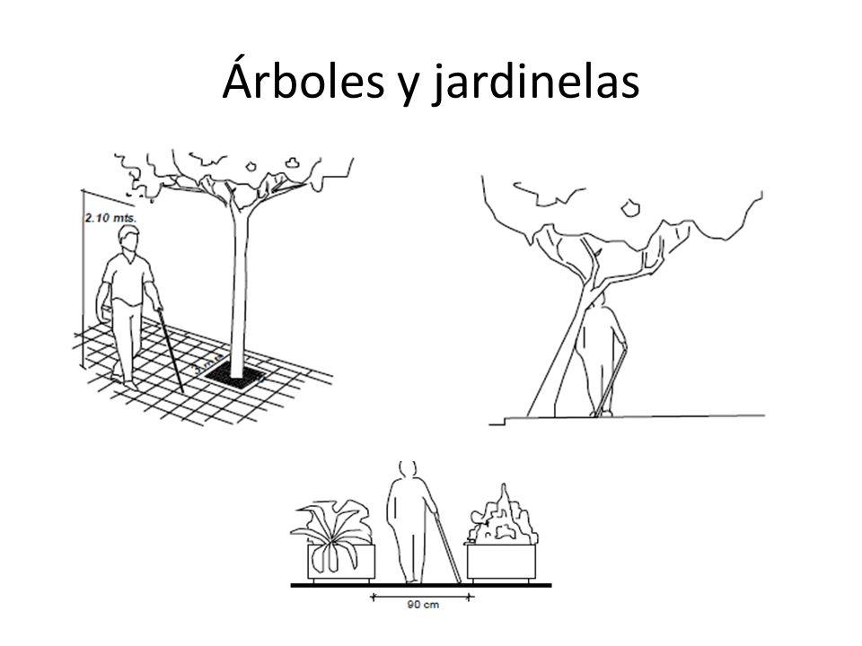 Árboles y jardinelas