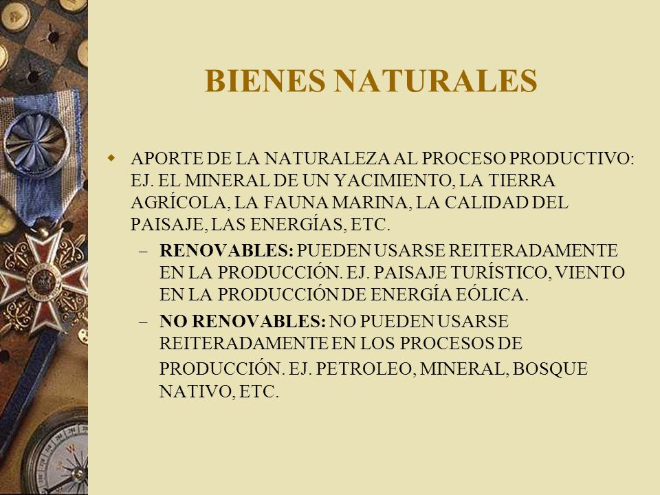 BIENES NATURALES