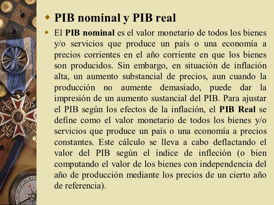 PIB nominal y PIB real
