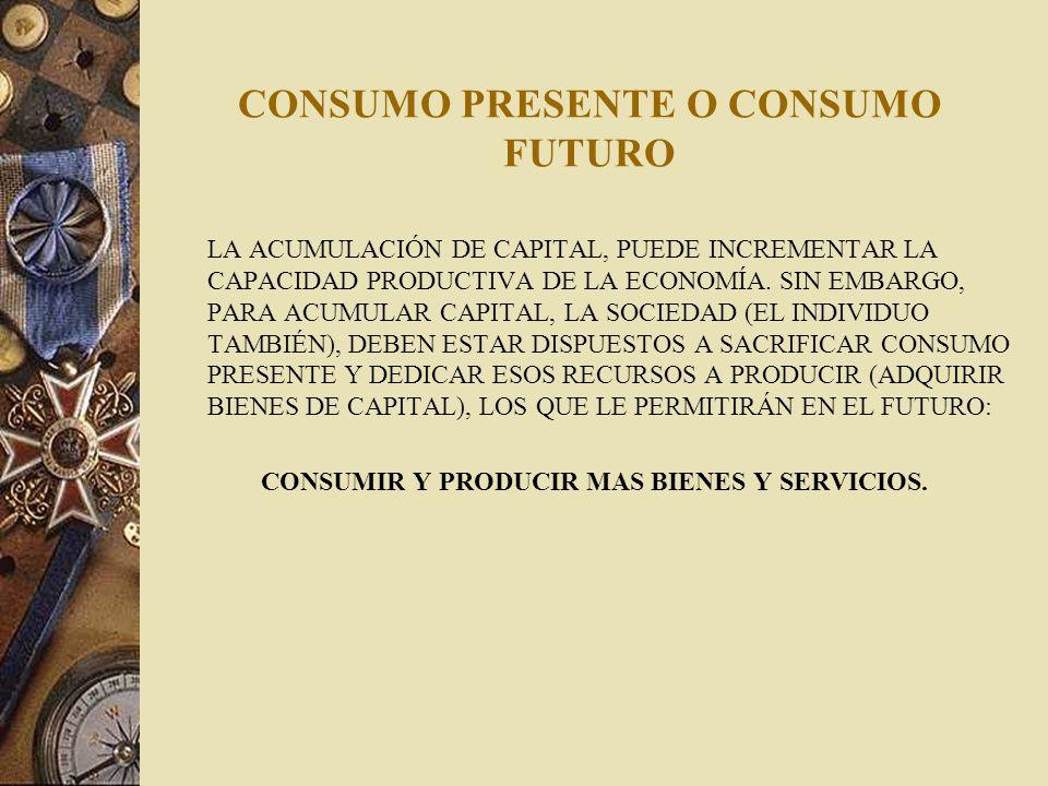 CONSUMO PRESENTE O CONSUMO FUTURO