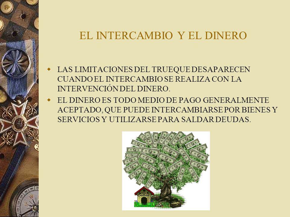 EL INTERCAMBIO Y EL DINERO