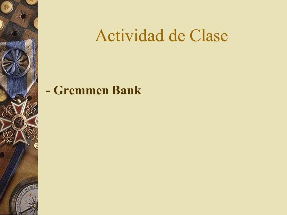 Actividad de Clase - Gremmen Bank