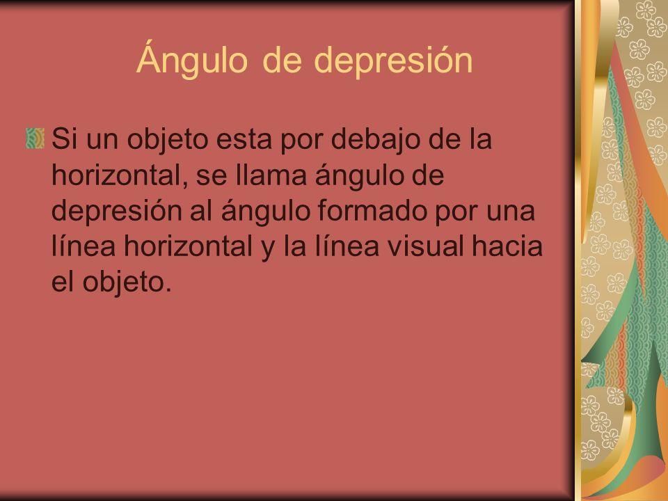 Ángulo de depresión