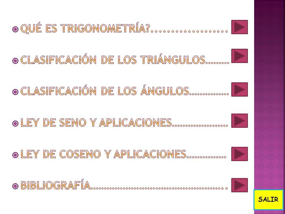 Clasificación de los triángulos……… Clasificación de los ángulos……………