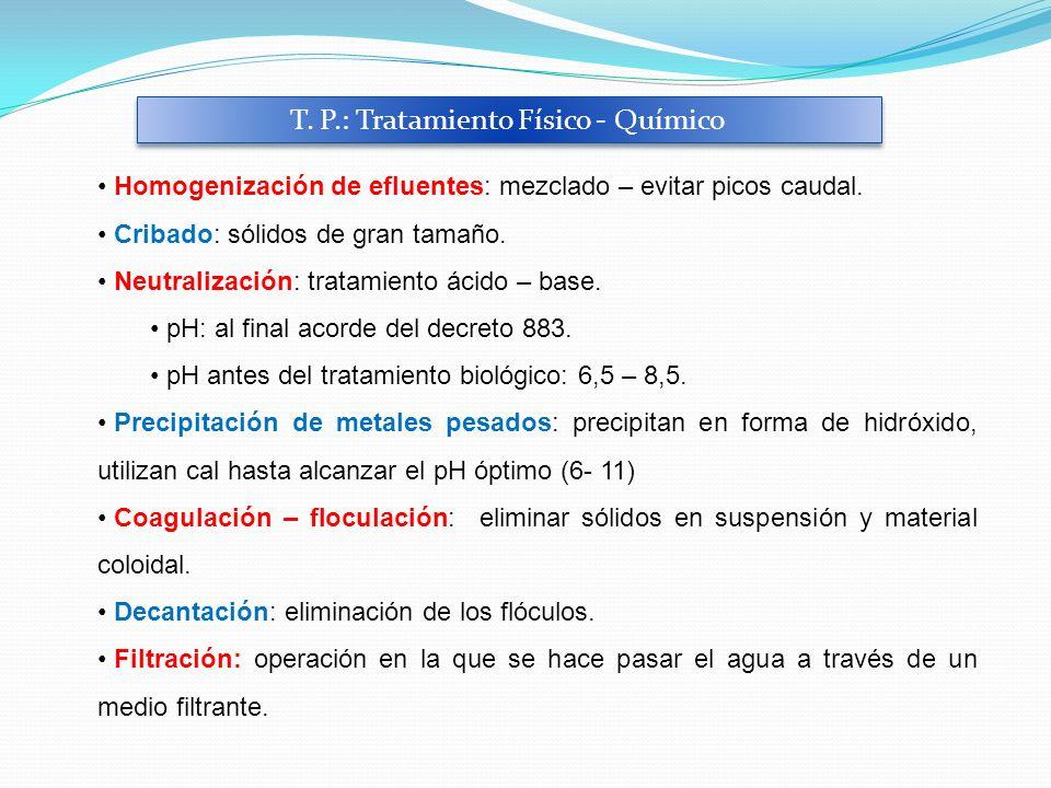 T. P.: Tratamiento Físico - Químico