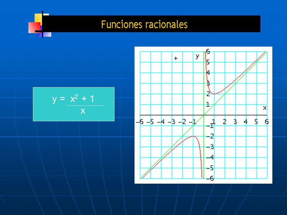 y = x2 + 1 x