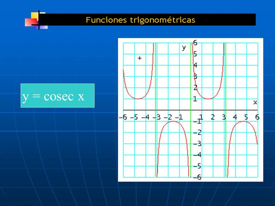 y = cosec x