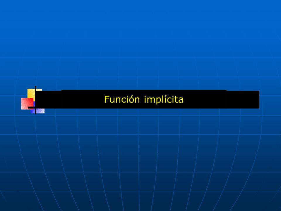 Función implícita