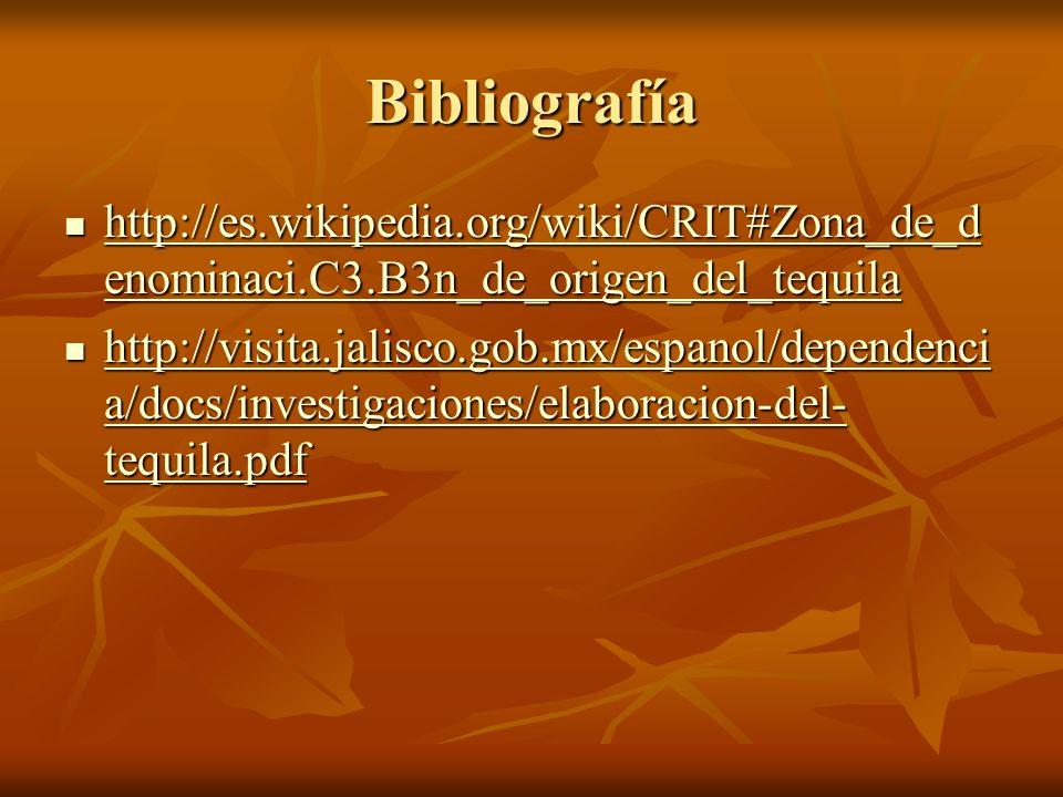 Bibliografía http://es.wikipedia.org/wiki/CRIT#Zona_de_denominaci.C3.B3n_de_origen_del_tequila.