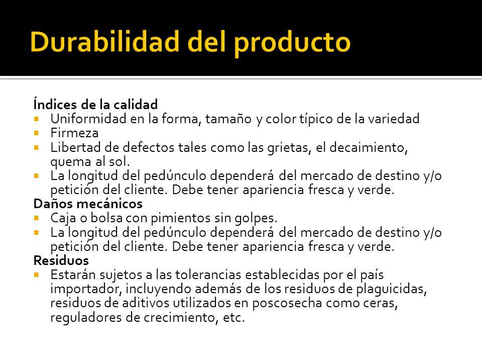 Durabilidad del producto