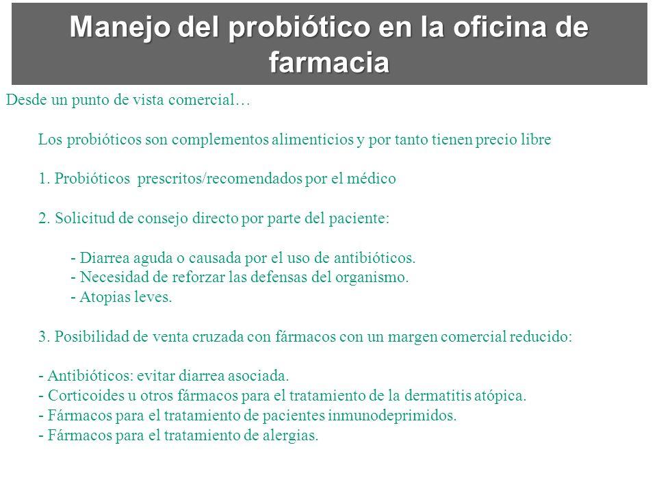 Manejo del probiótico en la oficina de farmacia