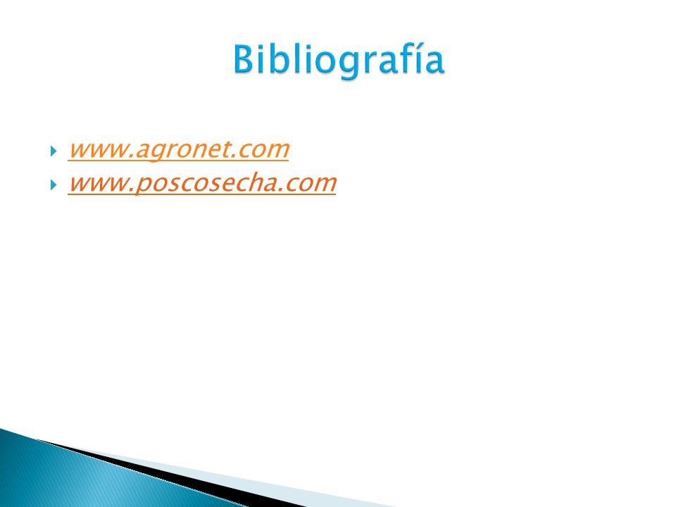 Bibliografía www.agronet.com www.poscosecha.com